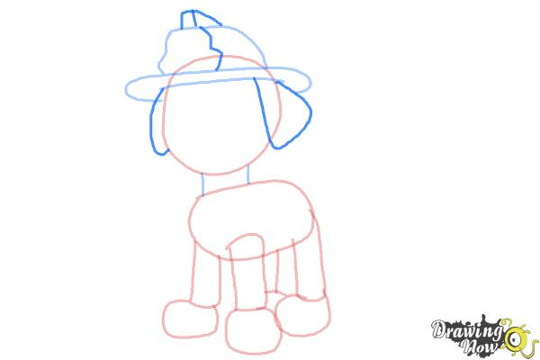 How to Draw Marshall from PAW Patrol - Step 5