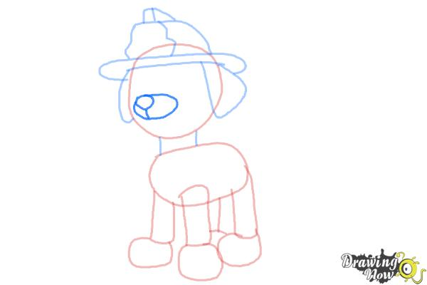 How to Draw Marshall from PAW Patrol - Step 6