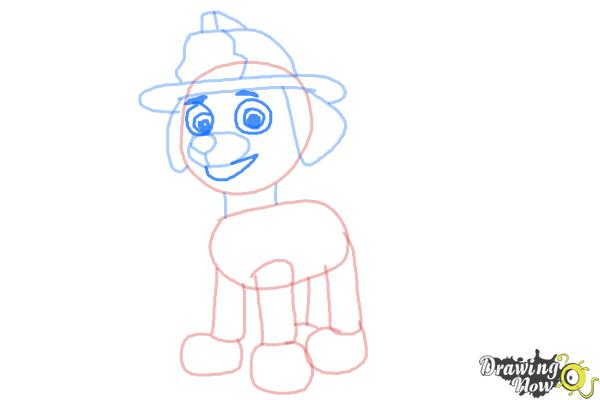 How to Draw Marshall from PAW Patrol - Step 7