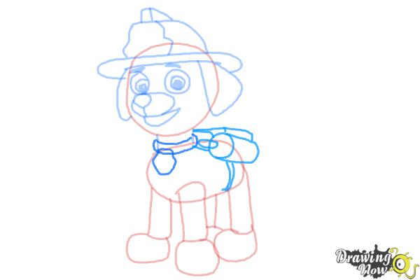 How to Draw Marshall from PAW Patrol - Step 8