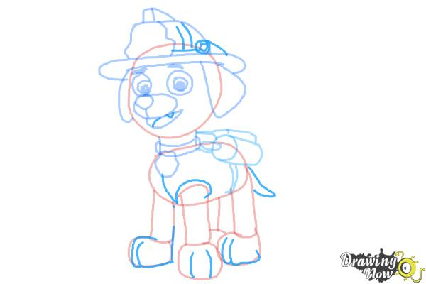 How to Draw Marshall from PAW Patrol - Step 9