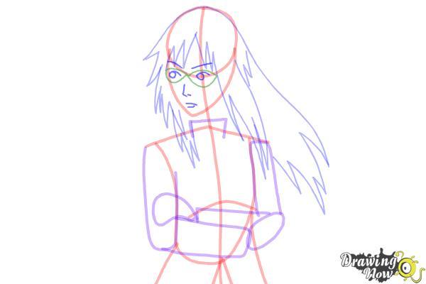 How to Draw Karin Uzumaki from Naruto Shippuden - Step 9