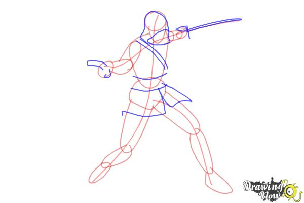 How to Draw Edward Kenway from Assassins Creed IV Black Flag - Step 4