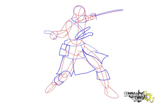 How to Draw Edward Kenway from Assassins Creed IV Black Flag - Step 5