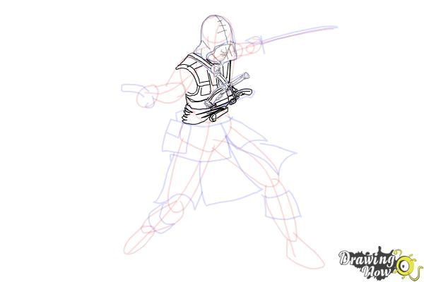 How to Draw Edward Kenway from Assassins Creed IV Black Flag - Step 7