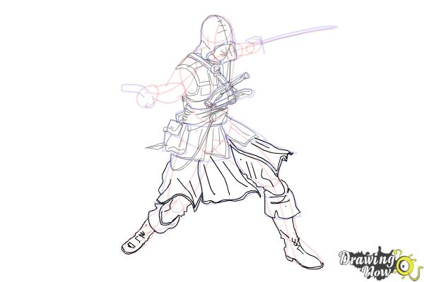 How To Draw Edward Kenway From Assassins Creed Iv Black Flag