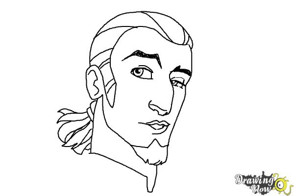 How to Draw Kanan, The Cowboy Jedi from Star Wars Rebels - Step 10