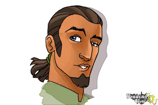 How to Draw Kanan, The Cowboy Jedi from Star Wars Rebels - Step 11