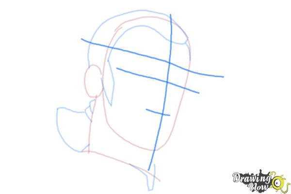 How to Draw Kanan, The Cowboy Jedi from Star Wars Rebels - Step 4
