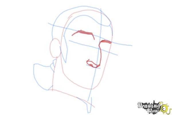 How to Draw Kanan, The Cowboy Jedi from Star Wars Rebels - Step 5