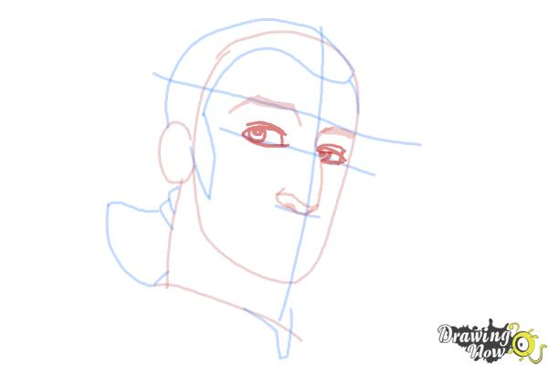 How to Draw Kanan, The Cowboy Jedi from Star Wars Rebels - Step 6