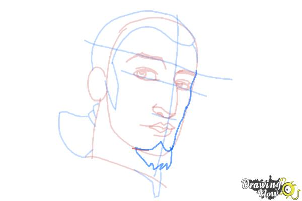 How to Draw Kanan, The Cowboy Jedi from Star Wars Rebels - Step 8
