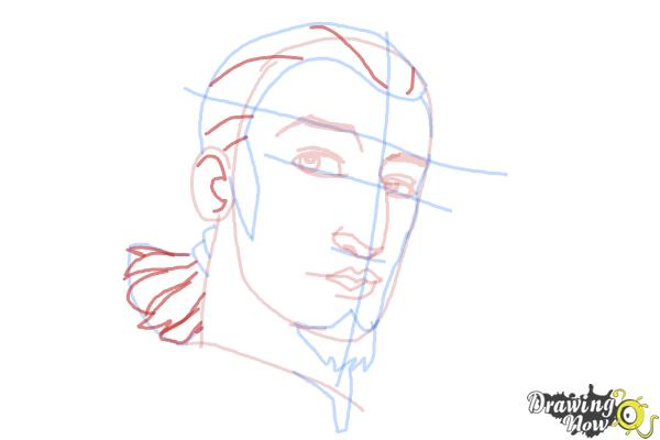 How to Draw Kanan, The Cowboy Jedi from Star Wars Rebels - Step 9