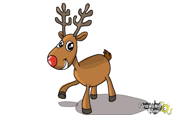 How to Draw a Reindeer For Kids - Step 11