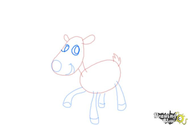 How to Draw a Reindeer For Kids - Step 7