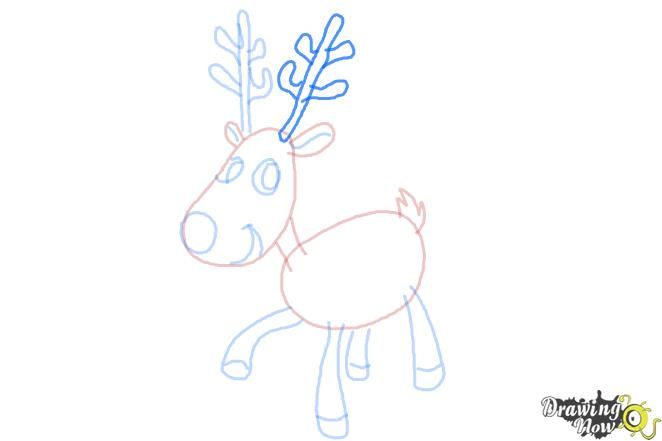How to Draw a Reindeer For Kids - Step 9