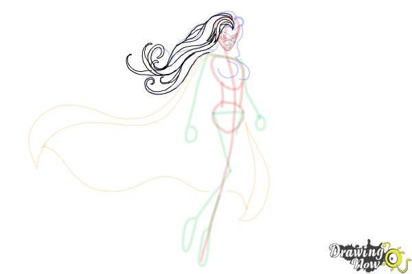 How to Draw Female Superheroes - Step 11