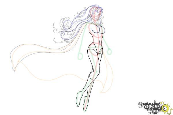 How to Draw Female Superheroes - Step 13