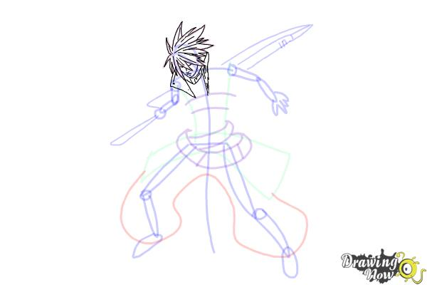 How to Draw Ragna The Bloodedge from Blazblue - Step 10