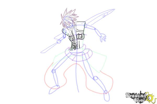How to Draw Ragna The Bloodedge from Blazblue - Step 11