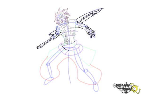 How to Draw Ragna The Bloodedge from Blazblue - Step 12