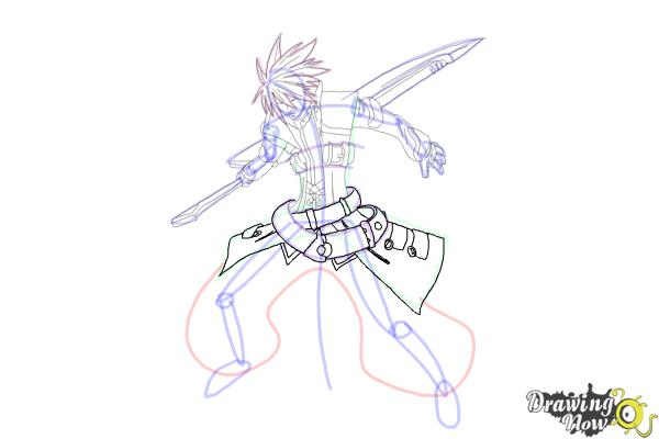 How to Draw Ragna The Bloodedge from Blazblue - Step 13