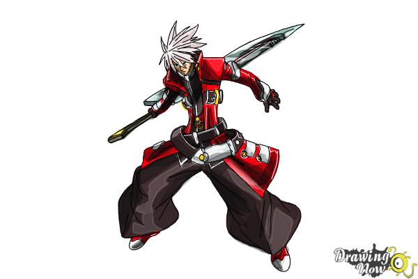 How to Draw Ragna The Bloodedge from Blazblue - Step 15
