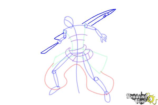 How to Draw Ragna The Bloodedge from Blazblue - Step 8