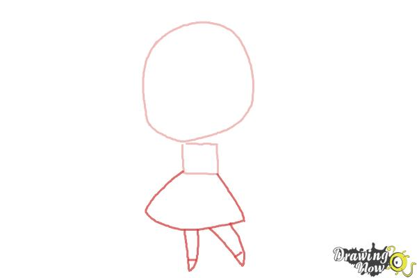 How to Draw a Chibi Orphan Girl - Step 2