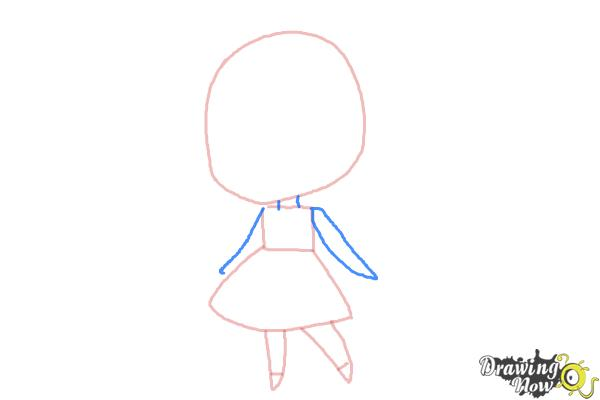 How to Draw a Chibi Orphan Girl - Step 3