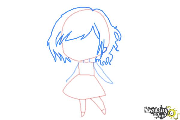 How to Draw a Chibi Orphan Girl - Step 4