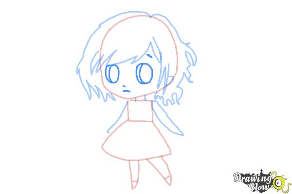 How to Draw a Chibi Orphan Girl - Step 5