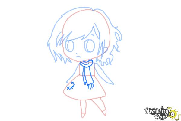 How to Draw a Chibi Orphan Girl - Step 6