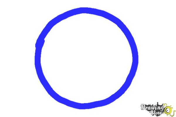 How to Draw Amity, The Peaceful Logo from Divergent - Step 1