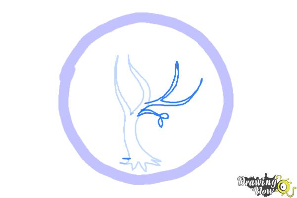 How to Draw Amity, The Peaceful Logo from Divergent - Step 3