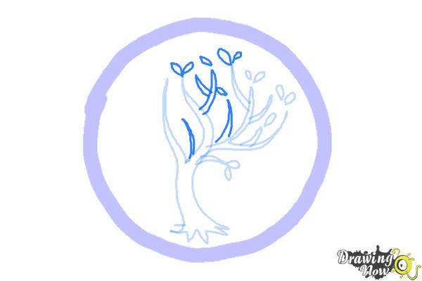 How to Draw Amity, The Peaceful Logo from Divergent - Step 5