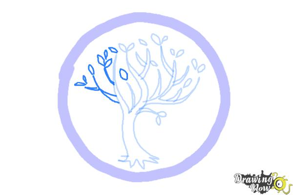 How to Draw Amity, The Peaceful Logo from Divergent - Step 6