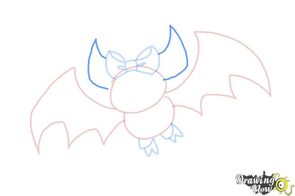 How to Draw Draculaura Pet, Count  Fabulous - Step 6