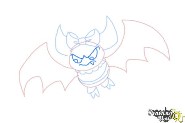 How to Draw Draculaura Pet, Count  Fabulous - Step 8