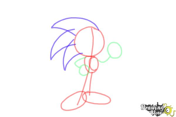How to Draw Sonic Step by Step - Step 5