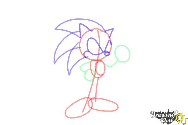 How to Draw Sonic Step by Step - Step 6