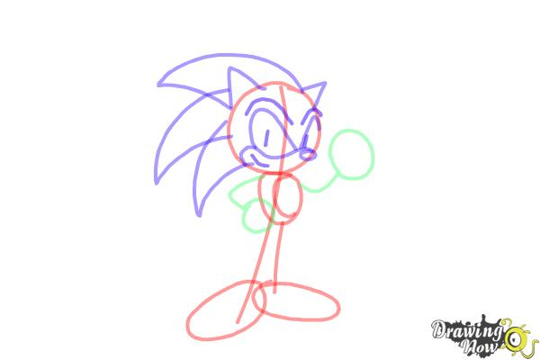 how to draw sonic the hedgehog easy