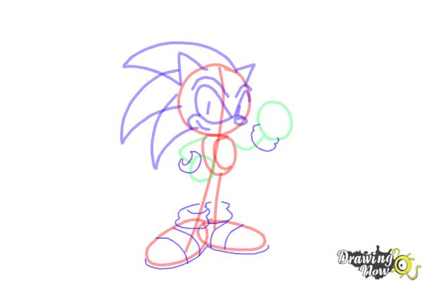 How to Draw Sonic Step by Step - Step 8