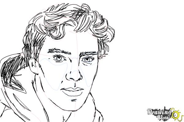 How to Draw Benedict Cumberbatch - Step 10