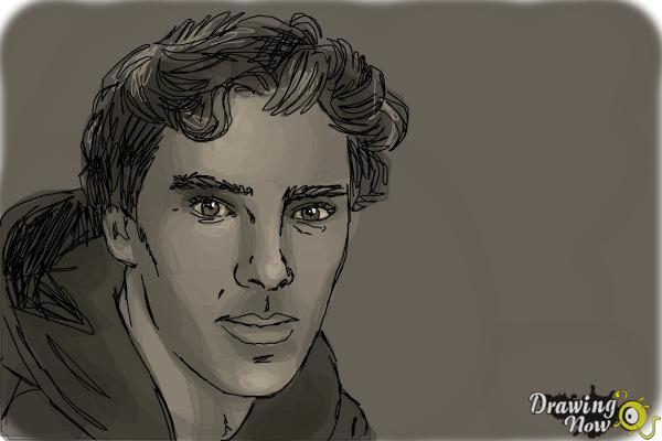 How to Draw Benedict Cumberbatch - Step 11