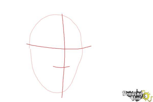 How to Draw Benedict Cumberbatch - Step 2