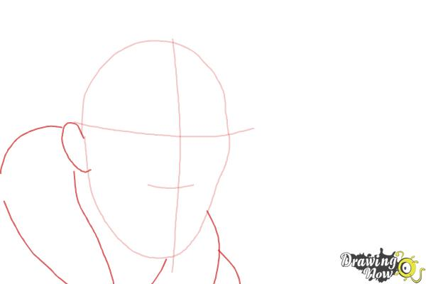 How to Draw Benedict Cumberbatch - Step 3