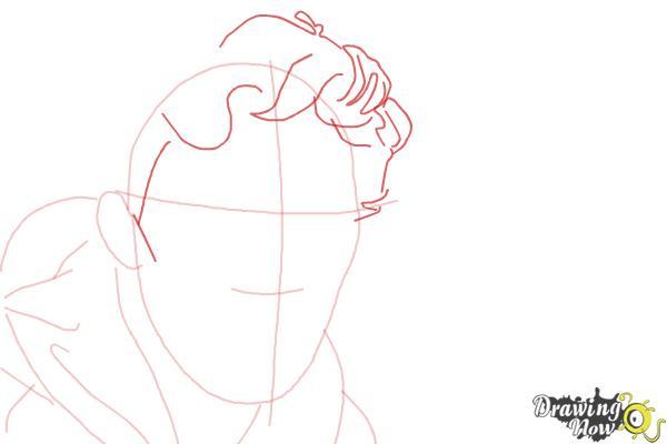 How to Draw Benedict Cumberbatch - Step 5