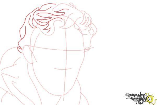 How to Draw Benedict Cumberbatch - Step 6