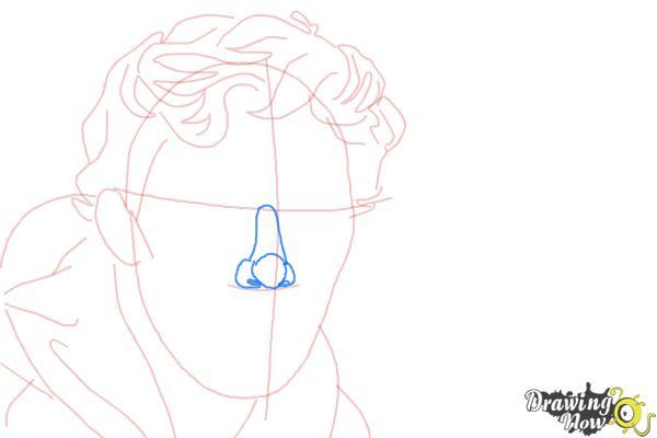 How to Draw Benedict Cumberbatch - Step 7
